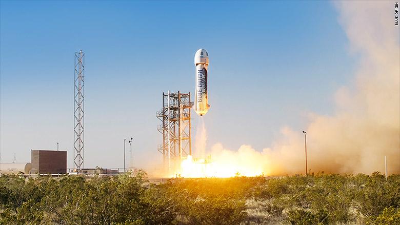 Il razzo riutilizzabile di Blue Origin è il primo nella storia ad essere atterrato senza problemi