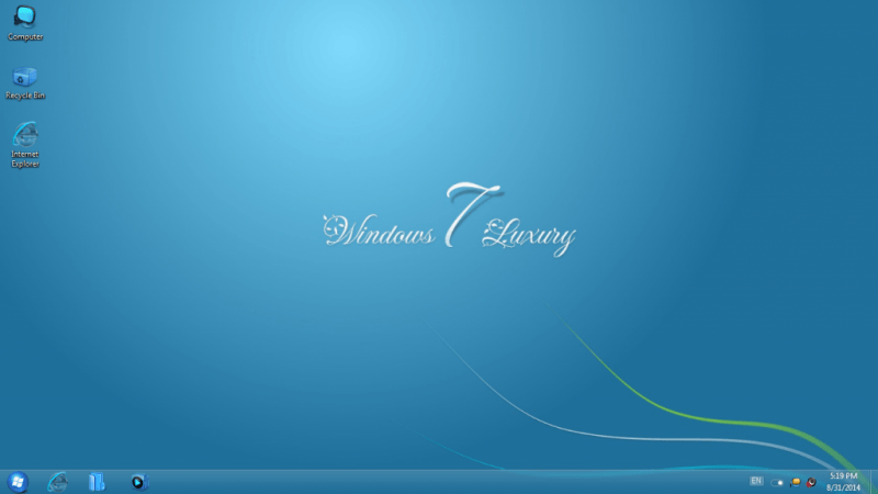 Windows 7 Luxury Full Version (x64/x86)