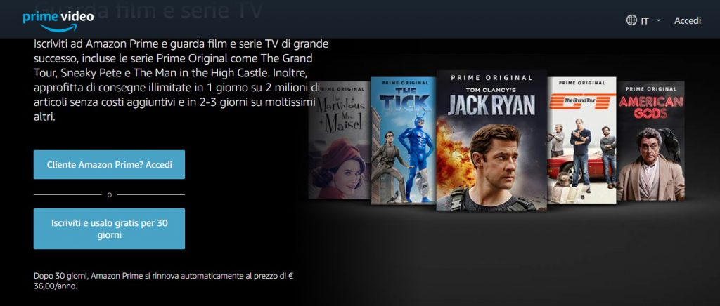vedere amazon prime video gratis